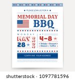 memorial day barbeque bbq flyer ... | Shutterstock .eps vector #1097781596