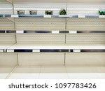 close up of empty snack shelf   Shutterstock . vector #1097783426