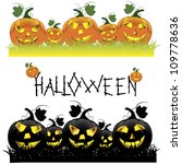 set of halloween pumpkins. | Shutterstock . vector #109778636