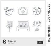 set of football   soccer icons...   Shutterstock .eps vector #1097787212