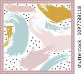 modern art pattern silk scarf... | Shutterstock .eps vector #1097788118