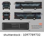 bus vector mockup. isolated... | Shutterstock .eps vector #1097789732