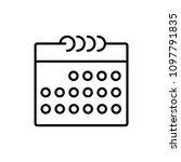 calendar isolated flat web... | Shutterstock .eps vector #1097791835