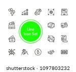 set of finance line icons   Shutterstock .eps vector #1097803232