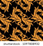 abstract floral seamless... | Shutterstock .eps vector #1097808932