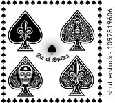 Ace Of Spades With Skull Sets