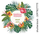 vintage wedding invitation.... | Shutterstock .eps vector #1097827775