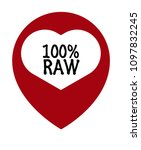 100  raw and map pointer. can... | Shutterstock .eps vector #1097832245