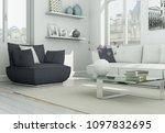 modern skandinavian interior... | Shutterstock . vector #1097832695