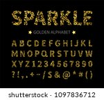 uppercase regular display font... | Shutterstock .eps vector #1097836712