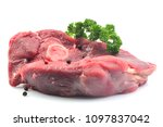 meat lamb on a white background | Shutterstock . vector #1097837042