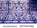 old wrought iron railing on a... | Shutterstock . vector #1097844986