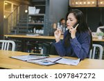 young business people are... | Shutterstock . vector #1097847272