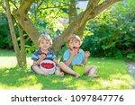 Two Little Friends Kid Boys - Fine Art prints