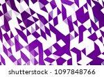 light purple vector polygonal... | Shutterstock .eps vector #1097848766