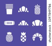 set of 9 food filled icons such ... | Shutterstock .eps vector #1097849786