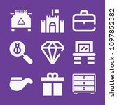 set of 9 other filled icons... | Shutterstock .eps vector #1097852582