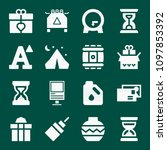 set of 16 other filled icons... | Shutterstock .eps vector #1097853392