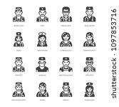 doctors professions flat glyph... | Shutterstock .eps vector #1097853716