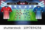 football or soccer starting... | Shutterstock .eps vector #1097854256
