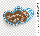 oktoberfest with hearts and... | Shutterstock .eps vector #1097860352
