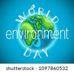 world environment day vector... | Shutterstock .eps vector #1097860532