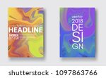 set paintings with marbling.... | Shutterstock .eps vector #1097863766