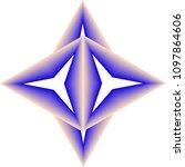blended colors geometric pattern | Shutterstock .eps vector #1097864606