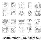 kitchen appliance thin line... | Shutterstock .eps vector #1097866052