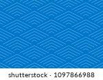 blue two tone geometric line... | Shutterstock .eps vector #1097866988