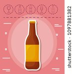 picnic summer design | Shutterstock .eps vector #1097881382
