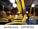 stop button on a london city bus | Shutterstock . vector #109789202