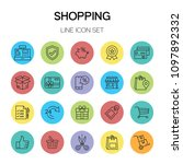shopping line icon | Shutterstock .eps vector #1097892332