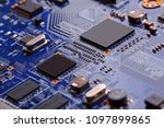electronic circuit board close... | Shutterstock . vector #1097899865