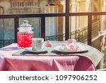 paris lifestyle. cup of coffee...   Shutterstock . vector #1097906252