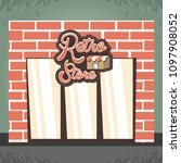 retro store building front | Shutterstock .eps vector #1097908052