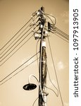 old  antique streetlamp  ... | Shutterstock . vector #1097913905