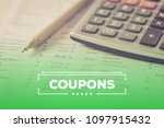 coupons and finance concept   Shutterstock . vector #1097915432