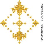 gold plated ancient pattern and ... | Shutterstock .eps vector #1097918282