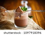 homemade chocolate mousse in a... | Shutterstock . vector #1097918396