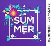 summer   modern vector colorful ... | Shutterstock .eps vector #1097922536