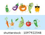 funny vegetable characters  ... | Shutterstock . vector #1097922548