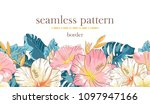 seamless border pattern with... | Shutterstock .eps vector #1097947166