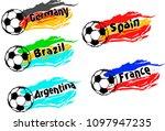 football   soccer set of the...   Shutterstock .eps vector #1097947235
