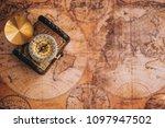 closeup old gold vintage... | Shutterstock . vector #1097947502
