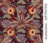 vector flower illustration... | Shutterstock .eps vector #1097947952