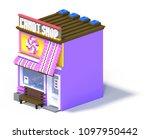3d rendering set of flat... | Shutterstock . vector #1097950442