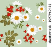 a seamless pattern with... | Shutterstock .eps vector #1097960486