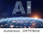 artificial intelligence... | Shutterstock . vector #1097978018