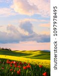 italy countryside landscape ... | Shutterstock . vector #1097978495